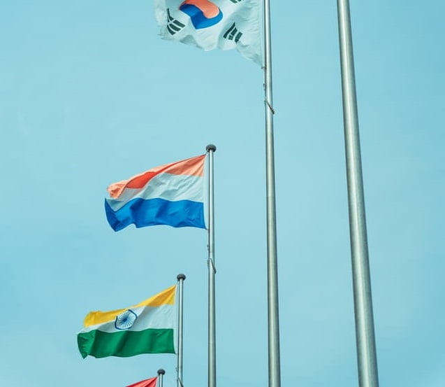 Flags in Olympics 2020